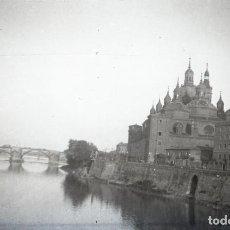 Fotografía antigua: ZARAGOZA - BASILICA DEL PILAR - NEGATIVO EN CELULOIDE - AÑOS 1930-40. Lote 213651690