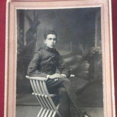 Fotografía antigua: ALBUMINA, MILITAR REGIMIENTO INFANTERIA Nº 52. ROGELIO GONZALEZ. SANTOÑA.. Lote 213683338