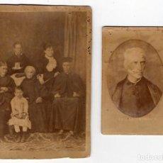 Fotografía antigua: AGAPITO CASADO. BURGOS. SORIA. SACERDOTE CON FAMILIA Y SIRVIENTA.. Lote 214622343