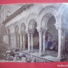 Fotografía antigua: LAS HUELGAS.-BURGOS.-LOS CLAUSTRILLOS.-J. LAURENT.-MADRID.-ALBUMINA.-CALOTIPO.-SIGLO XIX.. Lote 217159012