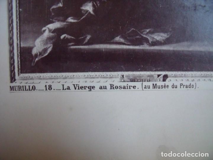 Fotografía antigua: MURILLO.-LA VIRGEN DEL ROSARIO.-MUSEO DEL PRADO.-J. LAURENT.-MADRID.-ALBUMINA.-CALOTIPO.-SIGLO XIX. - Foto 2 - 217166471