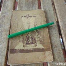 Fotografía antigua: FOTO CASTILLO ,ALBUMINA NUESTRO PADRE JESUS DE LOS DESAMPARADOS ANTIGUA CAPILLA DE EL SALVADOR. Lote 217841898