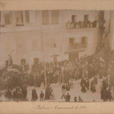Fotografía antigua: PALMA DE MALLORCA. CARNAVAL DE 1899.. Lote 218840416