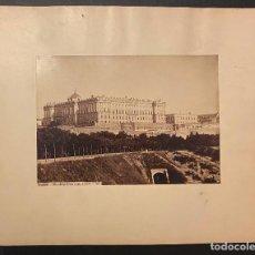 Fotografía antigua: MADRID.- EL PALACIO REAL. J. LAURENT Y Cª. 33X23,5. SOLO ALBÚMINA.. Lote 219117291