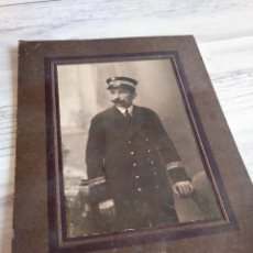 Fotografía antigua: FOTOGRAFÍA Y DEDICATORIA - UNIFORME DE MARINA - MÁLAGA, AÑO 1917. Lote 219704942