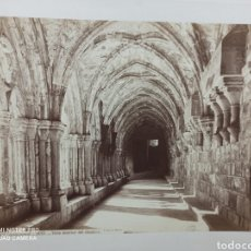 Fotografía antigua: FOTOGRAFIA DE J. LAURENT POBLET TARRAGONA 1213 VISTA INTERIOR DEL CLAUSTRO. Lote 220074165
