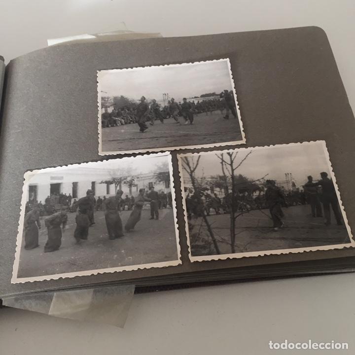 Fotografía antigua: Álbum fotos militar antiguo - Foto 8 - 221510132