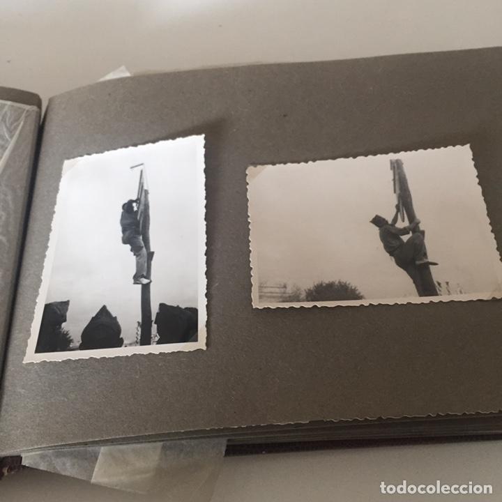 Fotografía antigua: Álbum fotos militar antiguo - Foto 10 - 221510132