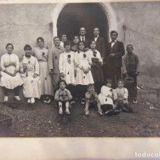Fotografía antigua: F-4791. FOTOGRAFIA GRUPO DESPUÉS DE FIESTA FOLKLORICA. CATALUNYA. PRINCIPIOS SIGLO XX.. Lote 221683262