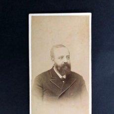Fotografía antigua: D. PASCUAL COMÍN Y MOYA / ZARAGOZA / JEFE REGIONAL CARLISTA EN ARAGON ( 1907-1912 ) FOTO ESCOLA. Lote 221687090