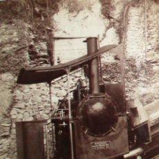 Fotografía antigua: FOTOGRAFÍA EN HUECOGRABADO DE LOCOMOTORA WINTERTHUR PARA FUNICULAR SUIZO. FINALES SIGLO XIX.. Lote 221702428