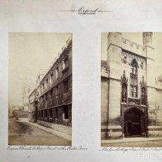 Fotografía antigua: OXFORD.(REINO UNIDO).- COLEGIO CUERPO DE CRISTO, COPUS CHISTI. 30X38.. Lote 222266255