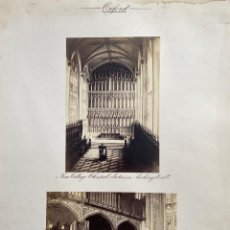 Fotografía antigua: OXFORD.(REINO UNIDO).- NUEVA CAPILLA UNIVERSITARIA. 30X38.. Lote 222266860