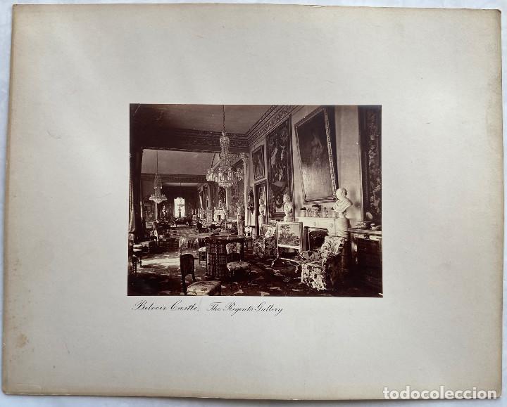 Fotografía antigua: CASTILLO DE BELVOIR.( INGLATERRA).- LA GALERÍA DE LOS REGENTES. 30X38. - Foto 3 - 222268552