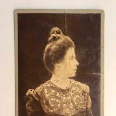 Fotografía antigua: NAPOLEÓN. ESTUDIO BARCELONA, ANTONIO Y EMILIO F.DITS. FOTOGRAFÍA SEÑORA CON ELEGANTE MOÑO (H.1900?). Lote 222279381