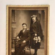 Fotografía antigua: GALLIFA, FOTOGRAFO. BARBASTRO (HUESCA) FOTOGRAFÍA DE MATRIMONIO BARBASTRINO (H.1920?). Lote 222279947