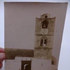 Fotografía antigua: NIEBLA (HUELVA). MINARETE IGLESIA STA. MARÍA DE LA GRANADA. ALBUMINA SIGLO XIX. 17 X 12 CTMS. Lote 222570300