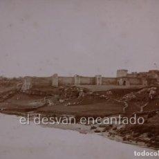 Fotografía antigua: NIEBLA (HUELVA). VISTA TOMADA DESDE EL PUENTE. ALBUMINA SIGLO XIX. 17 X 12 CTMS. Lote 222570672