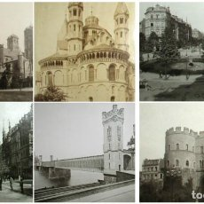 Fotografía antigua: SEIS FOTOGRAFÍAS EN HUECOGRABADO DE LA CIUDAD DE COLONIA (ALEMANIA, KÖLN). FINALES SIGLO XIX.. Lote 222814492