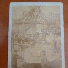Fotografía antigua: FOTO ORIGINAL ANTIGUA DEL DESPEGUE UN GLOBO A ESPLUGAS BARCELONA 16 X11 CM. Lote 222835095