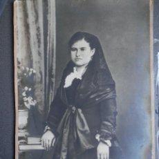 Fotografía antigua: FOTOGRAFÍA ALBÚMINA GRAN TAMAÑO FINALES DEL XIX - 49 X 32 CENTÍMETROS FAMILIA VILAPLANA. Lote 222868416
