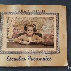 Fotografia antica: FOTO RECUERDO DEL COLEGIO, ESCUELAS NACIONALES, CURSO 1948-49, FOTOS CERVERA, VALENCIA. Lote 223386693