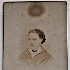 Fotografía antigua: FOTOGRAFÍA DE UNA JOVEN - LA FOTOGRAFÍA MODERNA JOSÉ PEREZ - VALENCIA. Lote 223723526