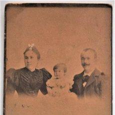 Fotografía antigua: FOTOGRAFÍA FAMILIAR - FOTÓGRAFO JULIO DERREY - VALENCIA - FECHADA JUNIO 1898. Lote 223733317