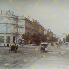 Fotografía antigua: ANTIGUA FOTOGRAFIA ALBÚMINA MADRID CALLE ALCALÁ 1885 LEON & LEVY. Lote 223888083