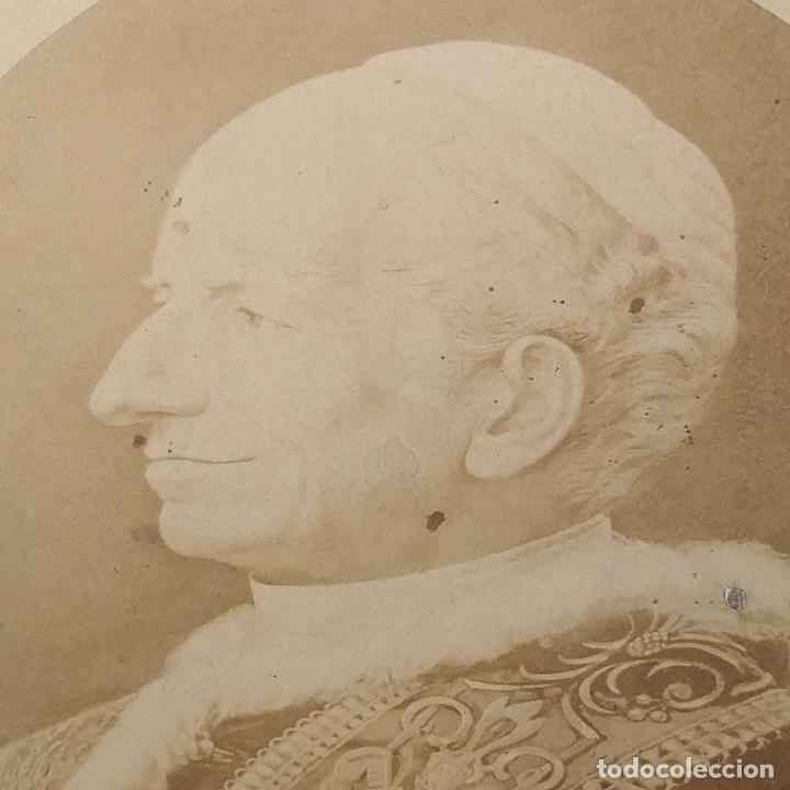 Fotografía antigua: BENDICIÓN APOSTÓLICA. CON FOTOGRAFÍA ALBÚMINA DE LEON XIII. ROMA. 1887 - Foto 3 - 224313613