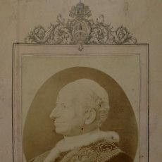 Fotografía antigua: BENDICIÓN APOSTÓLICA. CON FOTOGRAFÍA ALBÚMINA DE LEON XIII. ROMA. 1887. Lote 224313613