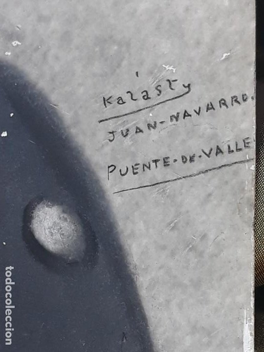 Fotografía antigua: FOTOGRAFIA ANTIGUA DE MILITAR - JUAN NAVARRO - PUENTE LA REINA - KALAST. - Foto 2 - 224443267