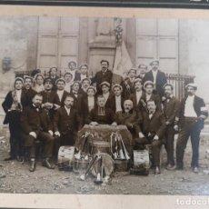 Fotografía antigua: FOTOGRAFIA - ALBÚMINA BANDA DE MÚSICA 1910 TOULOUSE FRANCIA SAINT SERNIN. Lote 224620513