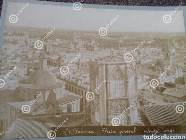 Fotografía antigua: Antigua fotografía albúmina sobre 1890 panorámica de Valencia - Foto 2 - 225134251