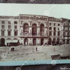 Fotografía antigua: ALBÚMINA ORIGINAL SOBRE CARTÓN BARCELONA TEATRO PRINCIPAL 1880-90. Lote 225283095