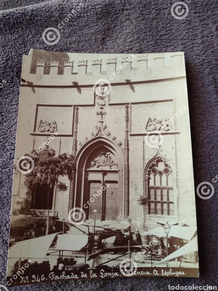 ALBÚMINA ORIGINAL LONJA DE VALENCIA. SOBRE EL AÑO 1880. A. ESPLUGAS N.346 (Fotografía Antigua - Albúmina)