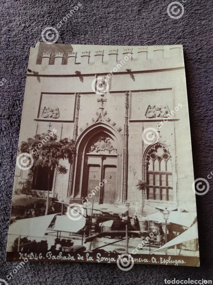 Fotografía antigua: Albúmina original Lonja de Valencia. Sobre el año 1880. A. Esplugas N.346 - Foto 2 - 225284965