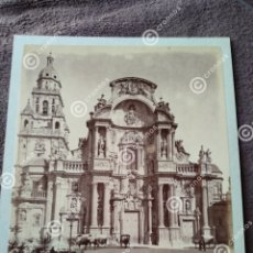Fotografía antigua: ALBÚMINA ORIGINAL SOBRE CARTÓN SOBRE 1880. MURCIA FACHADA DE LA CATEDRAL.. Lote 225287090