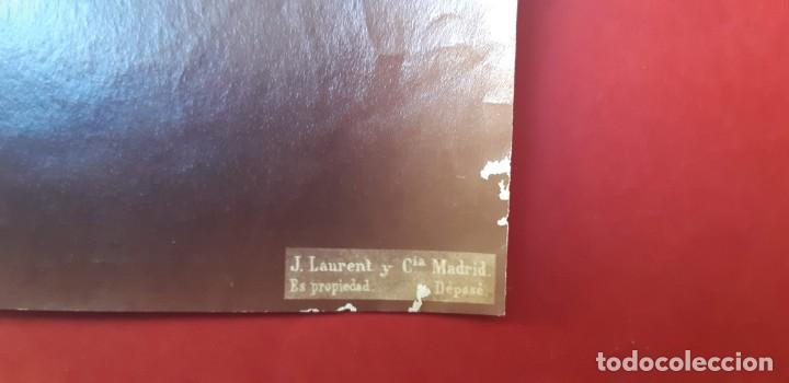 Fotografía antigua: 1872-75ca. Fotografía oroginal albumina J. Laurent y Cia. 33x 24cm. Bajo relieve. Luz artificial - Foto 3 - 226497385