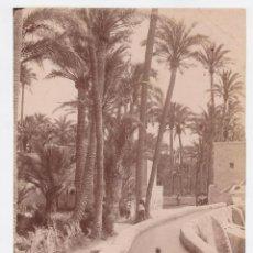 Fotografía antigua: ELCHE ALICANTE FOTOGRAFIA BAÑOS NIÑOS EN LA ACEQUIA PALMERAS . FOTO TORRES 23X16 CM ALBUMINA S,XIX. Lote 226561990