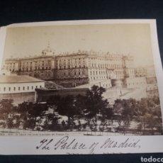 Fotografía antigua: FOTO CABINET LAURENT MADRID PALACIO REAL 1016 ALBUMINA ORIGINAL XIX. Lote 226786670