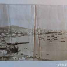 Fotografía antigua: 1912 FOTO ORIGINAL VISTA DE VIGO POZO DEL PUERTO Y BARRIO DEL ARENAL - BAYRISCHE GEWERBESCHAU MUNICH. Lote 227187110