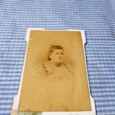 Fotografía antigua: FOTOGRAFÍA ALBÚMINA SEÑORA. PALMA. MALLORCA. TRUYOL.. Lote 227245270