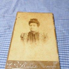 Fotografía antigua: FOTOGRAFÍA ALBÚMINA SEÑORA. PALMA. MALLORCA. BENEDITO. Lote 227245470