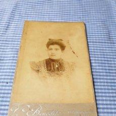 Fotografía antigua: FOTOGRAFÍA ALBÚMINA SEÑORA. PALMA. MALLORCA. BENEDITO. Lote 227245630