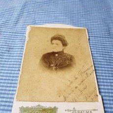 Fotografía antigua: FOTOGRAFÍA ALBÚMINA SEÑORA. PALMA. MALLORCA. TRUYOL. Lote 227245907