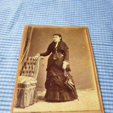 Fotografía antigua: FOTOGRAFÍA ALBÚMINA SEÑORA. PALMA. MALLORCA. RIBAS. Lote 227246720
