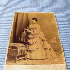 Fotografía antigua: FOTOGRAFÍA ALBÚMINA SEÑORA. PALMA. MALLORCA. RIBAS. Lote 227246960