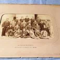 Fotografía antigua: FOTOGRAFÍA ALBÚMINA COLEGIO DE MANACOR 1881/82. PALMA. ALUMNOS INTERNOS.. Lote 227249875