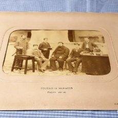 Fotografía antigua: FOTOGRAFÍA ALBÚMINA COLEGIO DE MANACOR 1881/82. PALMA.. Lote 227250030